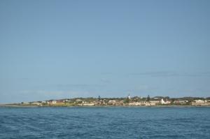 Robbeneiland gezien vanaf de veerboot