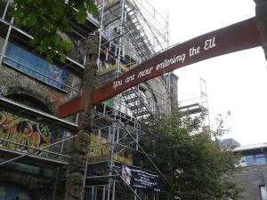 Het verlaten van Christiania is het binnenkomen van de EU