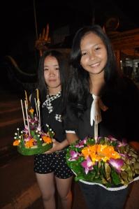 Soms kun je opeens een festival meevieren, waarvan je anders maar bar weinig had begrepen (Houay Xai - Laos)