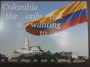 De toeristische slogan van Colombia, met gevoel voor zelfspot