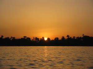 Zonsondergang op de Nijl.