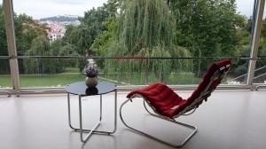 Het uitzicht op Brno vanuit de woonkamer is adembenemend mooi.