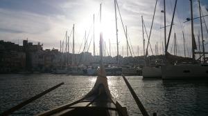 De watertaxi is een leuk en snel alternatief voor de veerboot.
